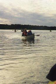 Kanosejlads på Furesøen